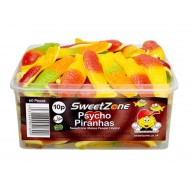 Sweetzone 100% Halal Jelly Psycho Piranhas Tub Of 60 Pcs