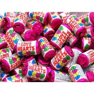 50 MINI LOVE HEARTS Retro Sweets PARTY BAG FILLER WEDDING FAVORS  FREE POSTAGE