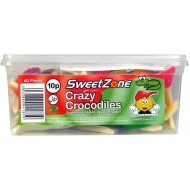 Sweetzone 100% Halal Jelly Sweets Crazy Crocodiles Tub Of 60pcs
