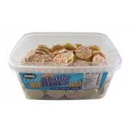 Alma Skiffle Discs White Chocolate Cream Flavour Candy Tub Of 120 Pcs