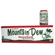 Mtn Dew Throwback American Import Soda Rare 12oz (355ml) 24 Pack (24 X 355ml Cans