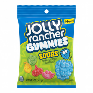 Jolly Rancher Sour Gummies Peg Bag 5oz (142g) - Unit Count: 12