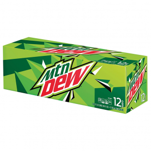 Mountain Dew Original 355ml Cans 12-pack American