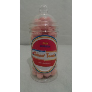 Gift Jars Of Retro Sweets - Victorian Jars Strawberry Bon Bons