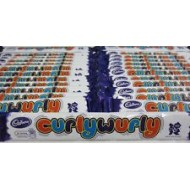 Cadbury'satandard Bars Curly Wurly - Box Of 30 Bars Kids Party Bags