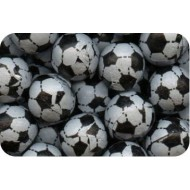 milk chocolate footballs foil wrapped black white 600g Bag (Pack of 125)  FREE POSTAGE