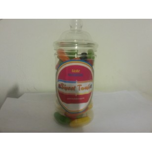 Gift Jars Of Retro Sweets - Victorian Jars Mega Jell Beans Big