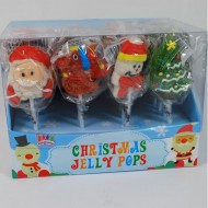 Christmas Jelly Pops: 24-piece Kids Birthday Party Xmas Stocking Bag Fillers