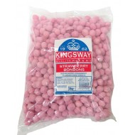 Pink Strawberry Bon Bons BAG, RETRO Flavoured Chewt Sweets 3kg KINGSWAY