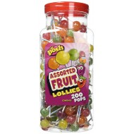 POSH Assorted Fruit Lollies 200 pops per jar SUITABLE FOR VEGETARIANS