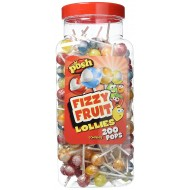 POSH Fizzy Fruit Lollies 200 Per Jar SUITABLE FOR VEGETARIANS