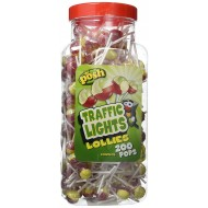 POSH Traffic Light Lollies 200 pops per jar SUITABLE FOR VEGETARIANS