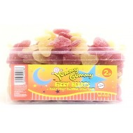 YUMMY GUMMY FIZZY HEARTS JELLY GUM SWEETS (Halal) Full Tubs