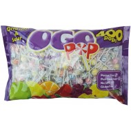 Original Gourmet Ogo Pops Original & Sour Suitable For Vegetarians 2.2kg 400 Individually Wrapped Lollipops In Each Bag