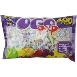 Original Gourmet Ogo Pops Original & Sour Suitable For Vegetarians 2.2kg 400 Individually Wrapped Lollipops In Each Bag