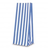 Candy stripe PAPER BAGS BLUE & WHITE sweets bags GIFT, PARTY, SWEETS WEDDING 100 pack