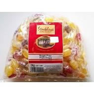 Stockleys SUGAR FREE Fruit Drops Sweets - 1 x 2kg