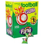 Fini Football Bubble Gum Balls  chicle LIQUID FILLED Pack of 200