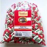 Stockleys SUGAR FREE Spearmint Chews Sweets - 1 x 2kg