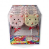 Kandy Kandy Mallow Cat Lollipop Full Box 18 Pieces