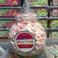 Gift Jars Of Retro Sweets Large Victorian Jars Mini Mallows Marshmallows