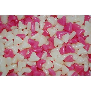 Barratt Jelly Bean Lovehearts Pink and White, 1 kg BAGS  Suitable for vegetarians  FREE POSTAGE