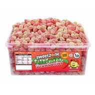 Sweetzone 100% Halal Fizzy Mini Strawberries 600 Pcs Tub
