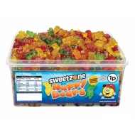 Sweetzone 100% Halal Jelly Sweets - Happy Gummy Bears Tub Of 600pcs
