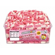 Sweetzone Halal  Strawberry Puffs Tub Of 600 Pcs Hmc