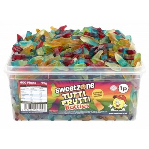 SWEETZONE TUTTI FRUTTI BOTTLE HMC HALAL SWEETS (600 PIECES)