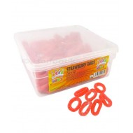 Kingsway HALAL Strawberry Rings  Fruit Flavour Gummy Sweets TUB 120