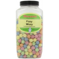 MAXONS Fizzy Wizzy FRUIT FLAVOURED HARD BOILED SWEETS WITH A FIZZY AND SOUR jar  2.95KG
