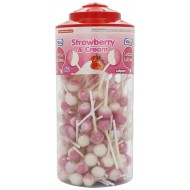 Vidal Lotta Lollies Strawberry and Cream (Pack of 1, Total 150 Pieces)