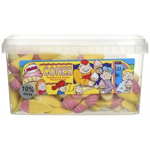 Alma Cones Strawberry And Cream Flavoured Candy Pack Of 120