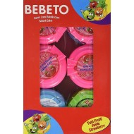 Bebeto Metre Bubblegum Roll, 40 g (Pack of 12)