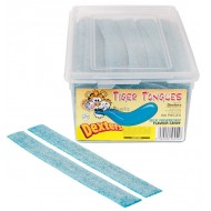 Dexters Tiger Tongue Blue Raspberry GELATIN FREE x Tub of 160 Fruit Flavour Jellies