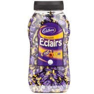 Cadbury Chocolate Eclairs - Caramels with Milk Chocolate Centres 1.5kg Jar