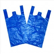 "PLASTIC CARRIER BAGS STRONG 200 x Blue (11x17x21"" 17mu)"