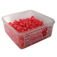 Alma Strawberry Hearts JELLY SWEETS HALAL TUB 600 PCS