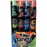 King Tango giant liquid candy spray PACK OF 12 105 ml Mixed Flavours
