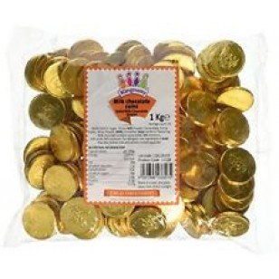 kingway Milk Chocolate Gold Pirate Coins 1kg Bag (Approx 135 coins)