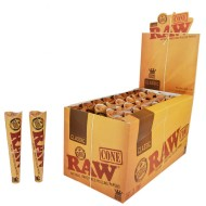Raw Classic King Size Pre Rolled Tobacco Rolling Paper Cones 32 Per Box