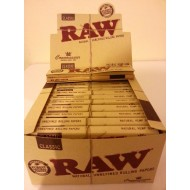 Raw Connoisseur King Sized Papers & Roach Classic Rolling Papers 24 Packs Full