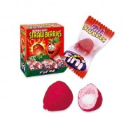 FINI STRAWBERRIES Bubble GUM FIZZY PICA SWEETS Pack of 200