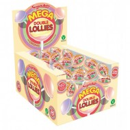 SWIZZELS MATLOW - MEGA DOUBLE LOLLIES BOX OF 36 GREAT PARTY BAG FILLER & WEDDING FAVOURS
