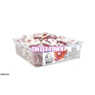 VIDAL FIZZY FILLED HEARTS JELLY GUM SWEETS Halal TUB 120
