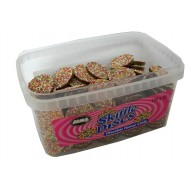 Alma Skiffle Discs Milk Chocolate Flavour Candy Tub Of 120 Pcs