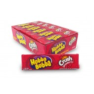 Wrigley's Hubba Bubba Crush Strawberry Bubble Gum American Sweets 40g 18x