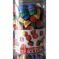 Ice Cups Strawberry 200 Pieces Tub