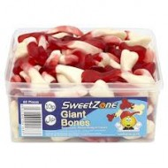 Sweetzone 100% Halal Jelly Sweets - Giant Bones Tub Of 60pcs